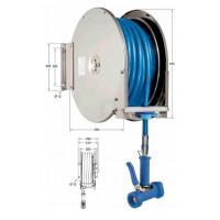 Knauss Armatur Power Reel Molkereidampf-Schlauch blau Schlauchaufroller offen 1/2 Zoll L 25 m-20