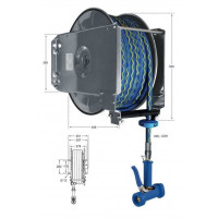 Knauss Armatur Power Reel automatischer Schlauchaufroller mit Trinkwasser-Schlauch L 25 m-20