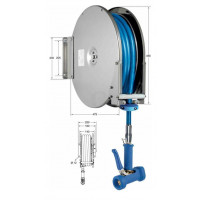 Knauss Armatur Power Reel Molkereidampf-Schlauch blau Schlauchaufroller offen 1/2 Zoll L 10 m-20
