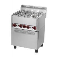 Gasherd mit Heißluftofen 4 Kochstellen der Serie 600 von GGG