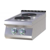 Elektroherd als Tischgerät 2 runde Platten 400 mm der Serie 700 von GGG