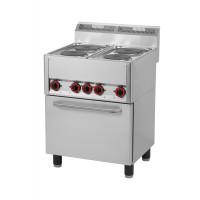 Elektroherd mit Heißluftofen 4 Kochplatten der Serie 600 von GGG