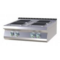 Elektroherd als Tischgerät 4 eckige Platten 800 mm der Serie 700 von GGG