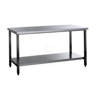Edelstahl Arbeitstisch mit Grundboden Serie Standard-20