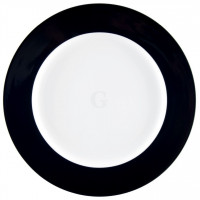 Seltmann Weiden Meran Springcolors Teller flach 33 cm Fahne, schwarz