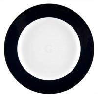 Seltmann Weiden Meran Springcolors Teller flach 28 cm Fahne, schwarz