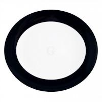 Seltmann Weiden Meran Springcolors Teller oval 5235 34 cm, schwarz