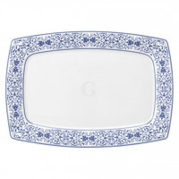 Savoy Grand Blue Teller rechteckig 35x24,5 cm