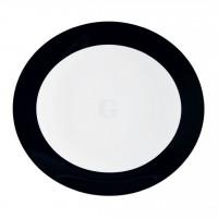 Seltmann Weiden Meran Springcolors Teller oval 5192 29 cm, schwarz