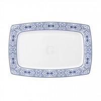 Savoy Grand Blue Teller rechteckig 29,5x20 cm