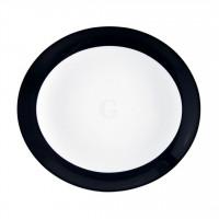 Seltmann Weiden Meran Springcolors Teller oval 5193 27 cm, schwarz