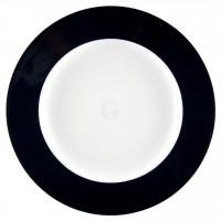 Seltmann Weiden Meran Springcolors Teller flach 30 cm Fahne, schwarz