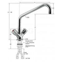 Knauss Armatur profi Einlochbatterie 3/4 Zoll H 250 mm-20
