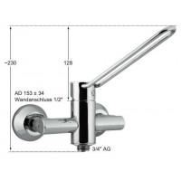 Knauss Armatur taya Hebelmischer-Wandbatterie 1/2 Zoll mit Rückflussverhinderer und Rohrbelüfter-20