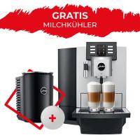 Jura X8 Platin EA mit Gratis Cool Control Milchkühler