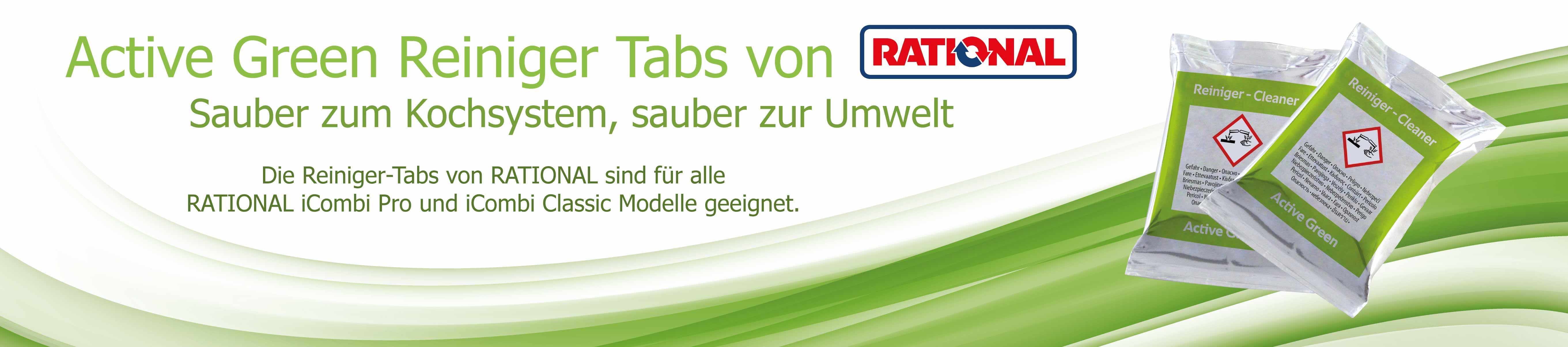 Rational Active Green Reiniger Banner