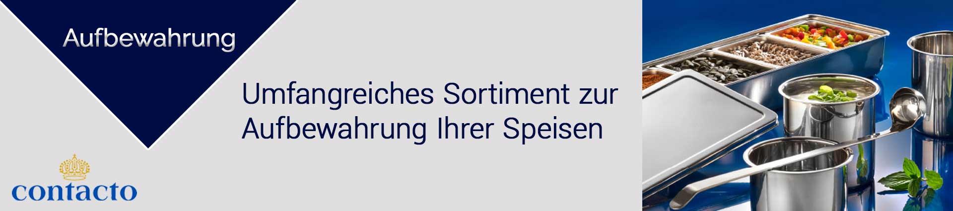 Contacto Aufbewahrung Banner