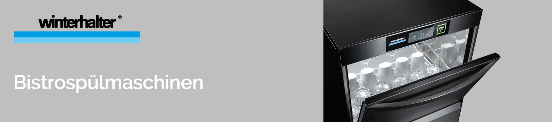 Winterhalter Bistrospülmaschinen Banner
