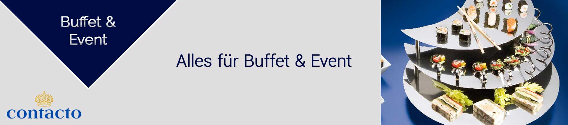 Contacto Buffet und Event Banner