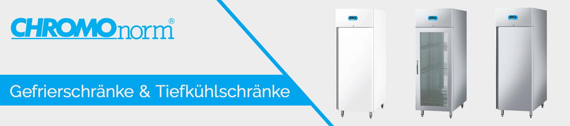 Chromonorm Gefrierschränke & Tiefkühlschränke Banner