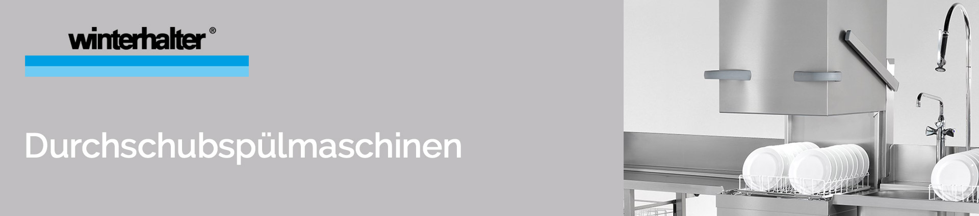 Winterhalter Durchschubspülmaschinen Banner