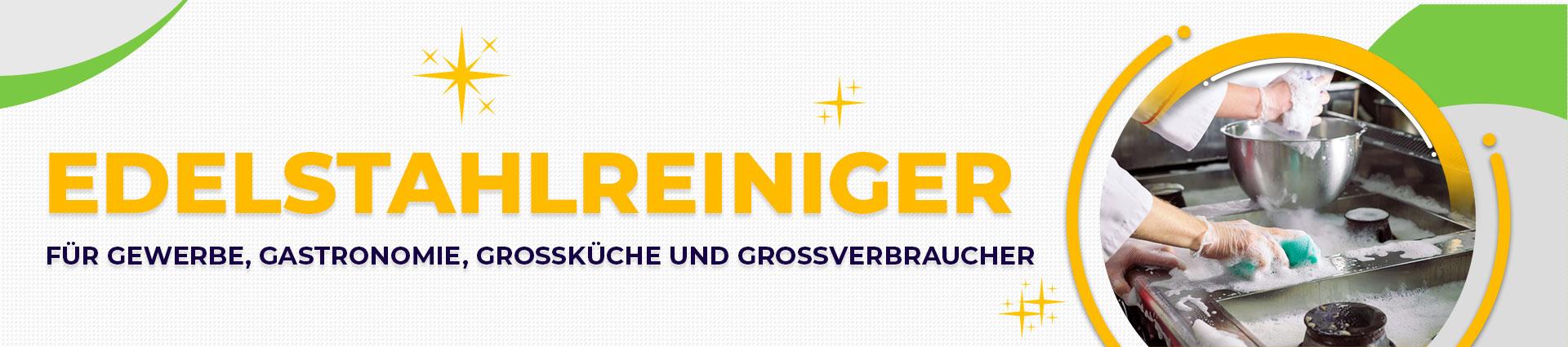 Edelstahlreiniger Banner