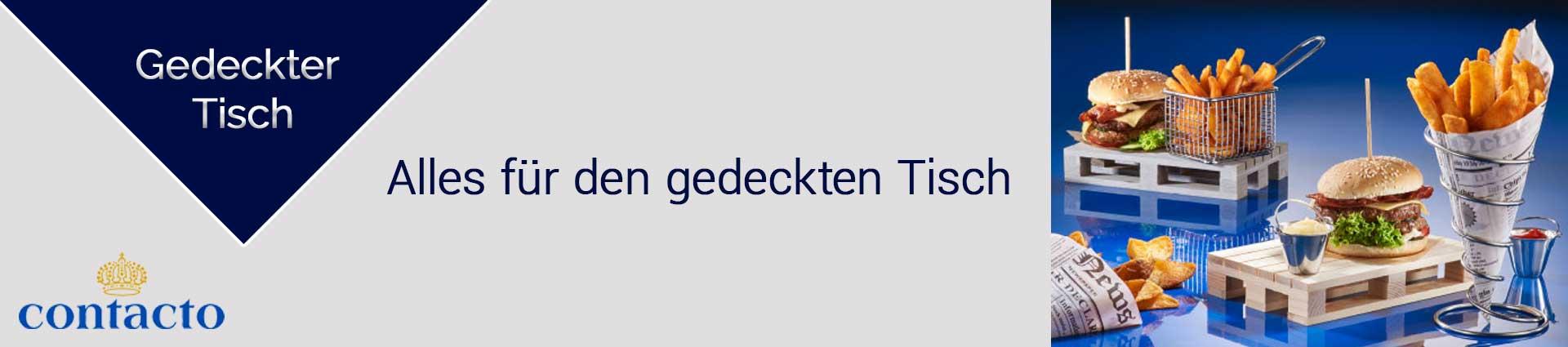 Contacto Gedeckter Tisch Banner