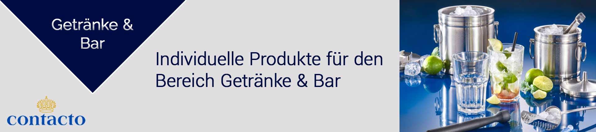 Contacto Getränke und Bar Banner