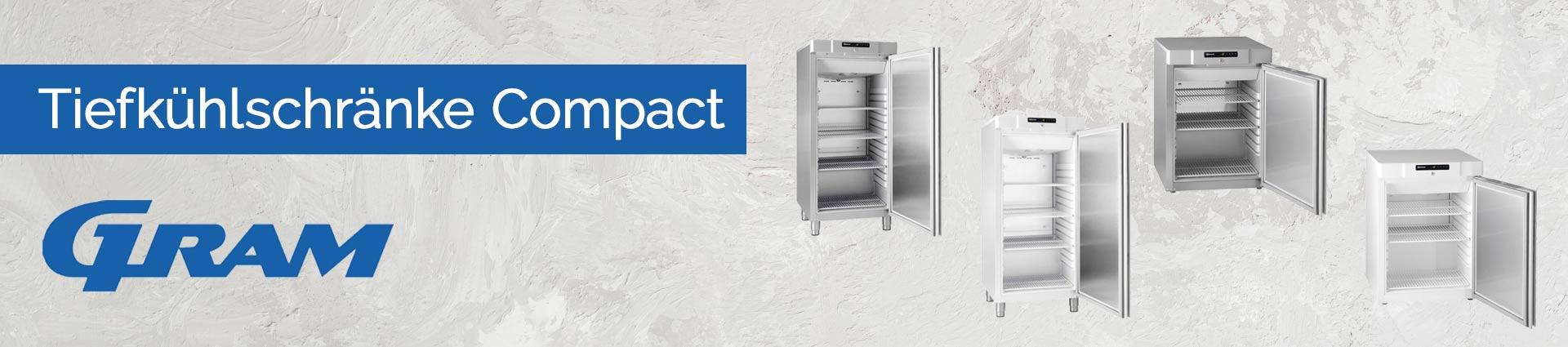 GRAM Tiefkühlschränke Compact Banner