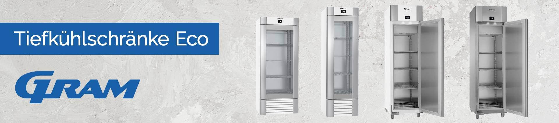 GRAM Tiefkühlschränke ECO Banner