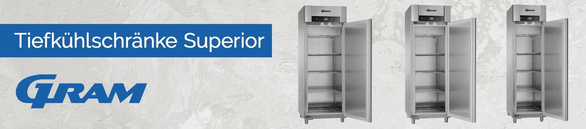 GRAM Tiefkühlschränke Superior Banner
