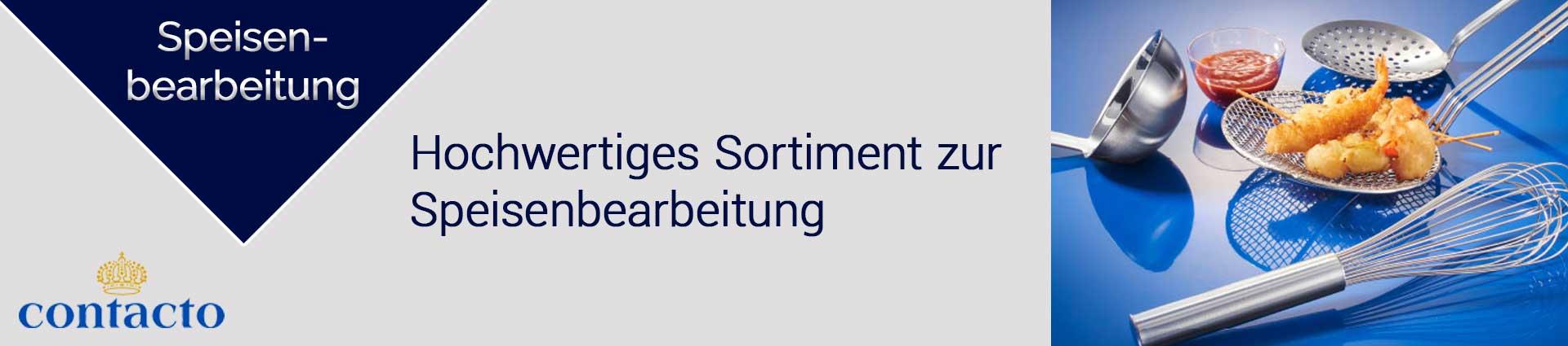 Contacto Speisenbearbeitung Banner