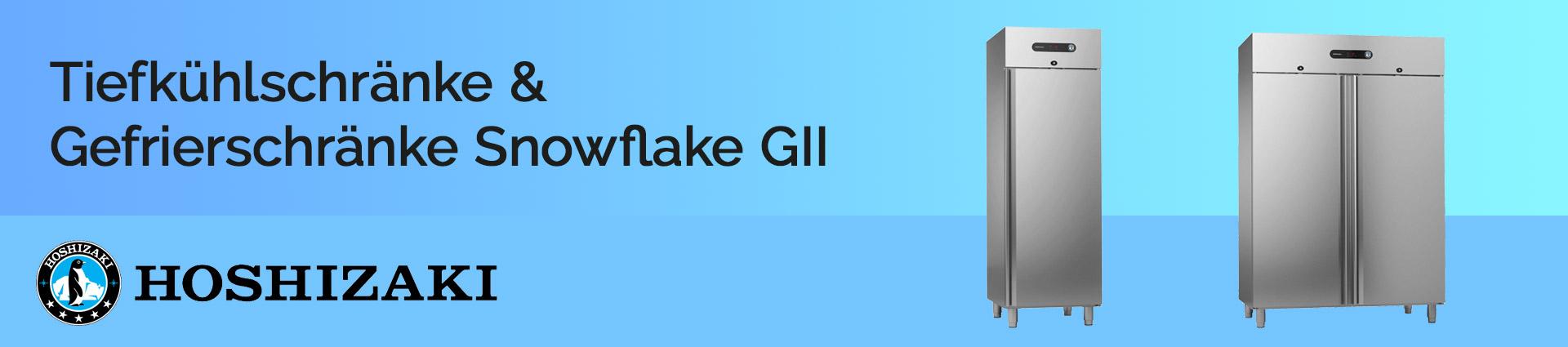 Hoshizaki Tiefkühlschränke und Gefrierschränke Snowflake GII Banner