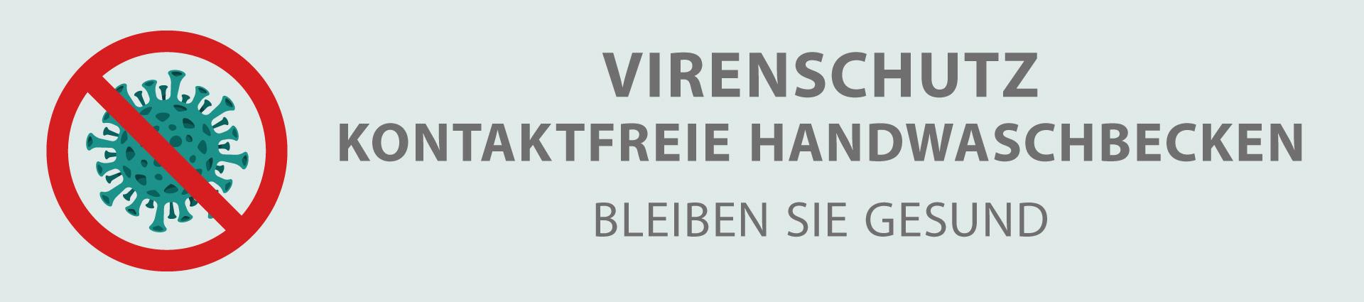 Kontaktfreie Handwaschbecken Banner