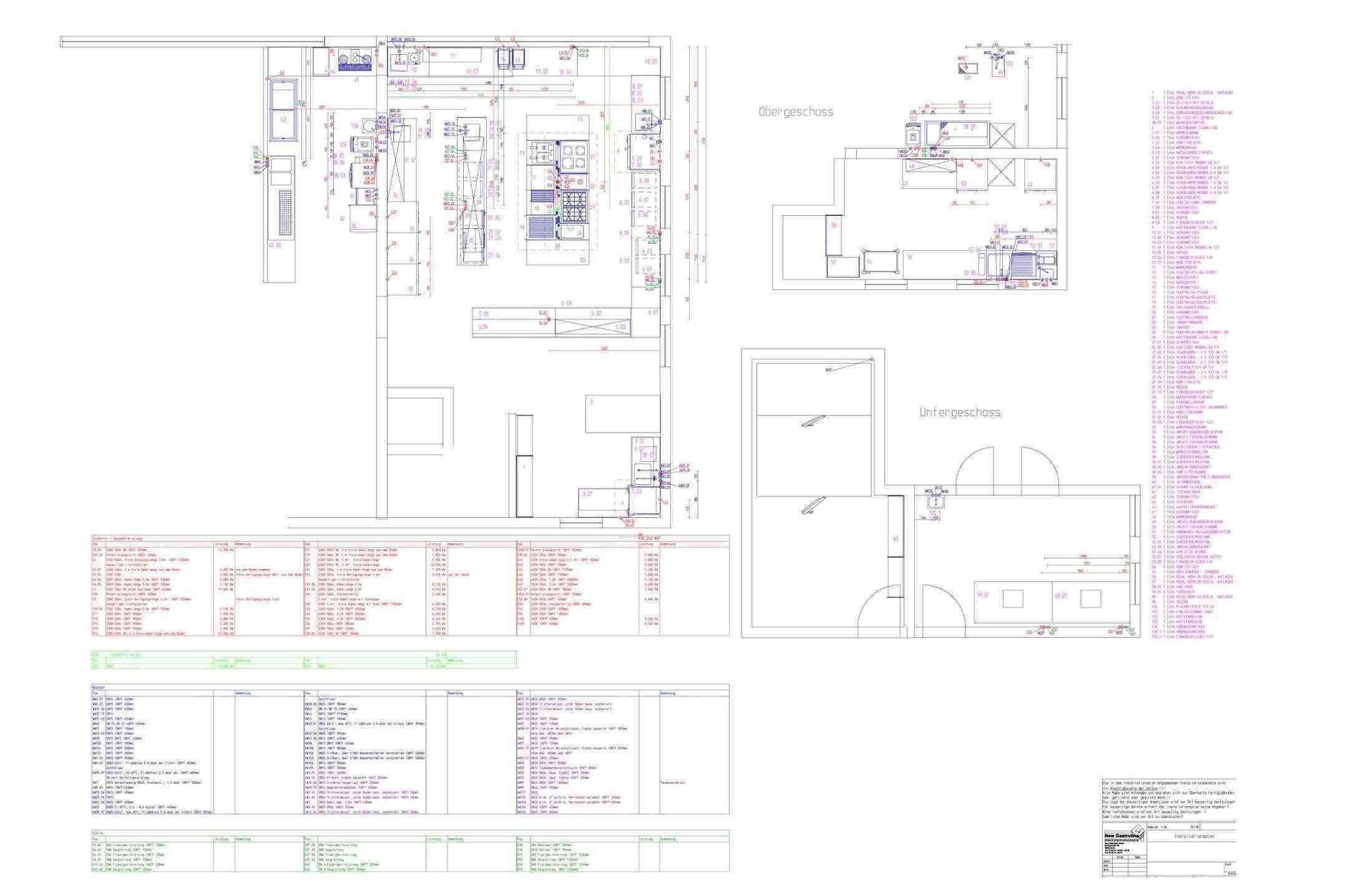Großküchen-Anschlussplan