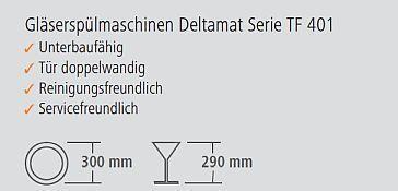 Bartscher Gläserspülmaschine Deltamat TF 401 Wasserenthärter