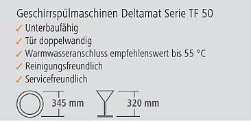 Bartscher Spülmaschine TF 50 LR technische Details