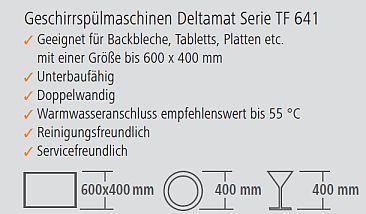 Geschirrspülmaschine Deltamat TF 641 Grafik