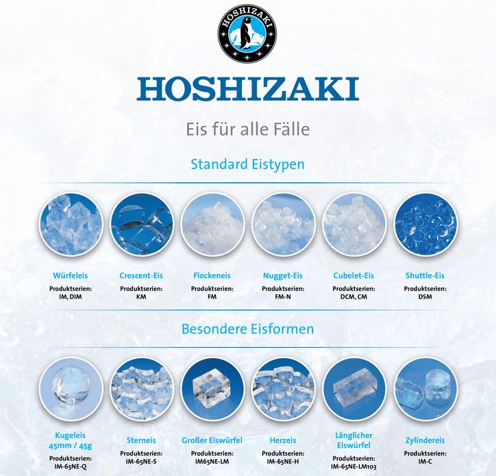 Hoshizaki Eiswürfel-Varianten