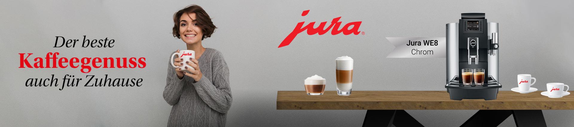 Jura WE8 Chrom - Der beste Kaffeegenuss auch für Zuhause
