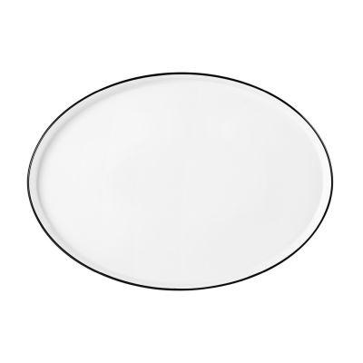 Good Mood Black Line Teller flach oval 29 cm M5398-29x21