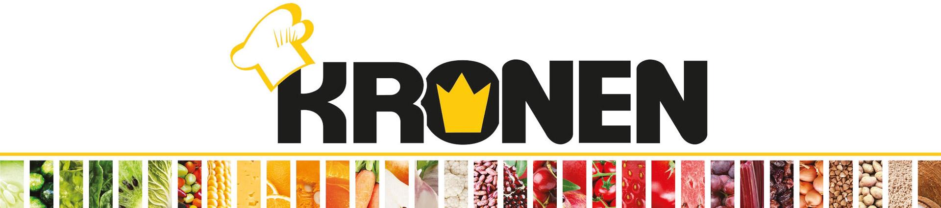 Kronen Küchengeräte Banner mit Logo