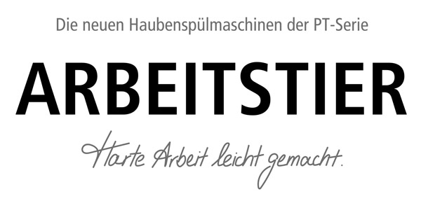 Winterhalter PT Serie Slogan