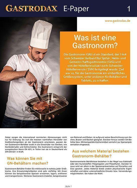 Cover Gastrodax E-Paper Gastronorm